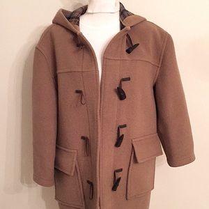 Burberry Tan Toggle Duffle Coat GUC Oversized SM